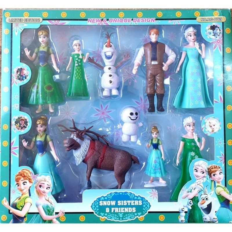 frozen karlar ulkesi set oyuncak elsa anna olaf geyik